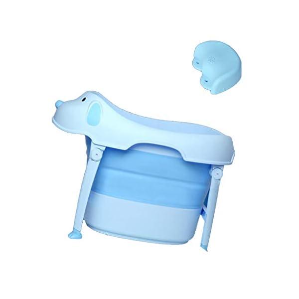 AIYE Baby Bathtub Folding Bathtub Children's Bathtub Thicker Insulated Bathtub Multifunctional Bathtub (Seat) (Color : Pink/Blue/Green) 2
