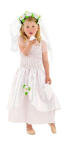 Seiler24 Zauberhaftes Brautkleid für Mädchen Gr. (Mädchen Halloween Teenager Princess Kostüme)