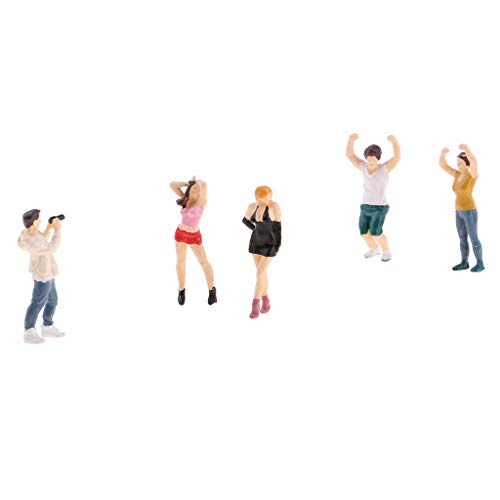 sharprepublic 5pcs 1:64 Resin Figures Die Spielfeld People Group Für Micro Szenen - B (Miniatur 1 64)
