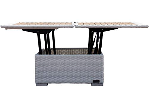 Outflexx Höhenverstellbarer Loungetisch Aus Hochwertigem Polyrattan