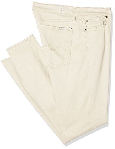 7 for all mankind The Skinny Crop, Jeans Donna Bianco (Cream)