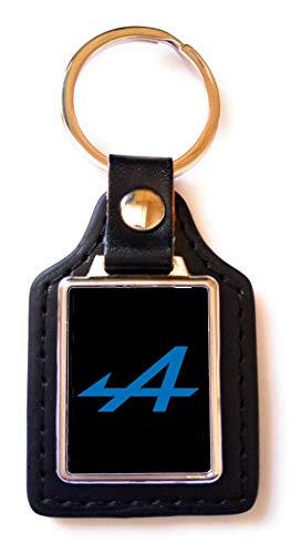 Print Corner - Llavero de Acero y Piel sintética Alpina, Color Negro