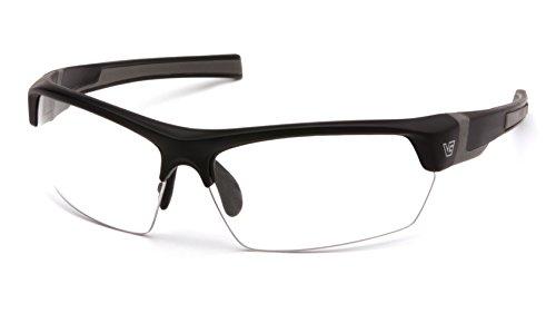 Venture Gear tensaw Half-Frame High Performance Sicherheit Eyewear, Unisex, Black Frame/Clear Anti-Fog Lens