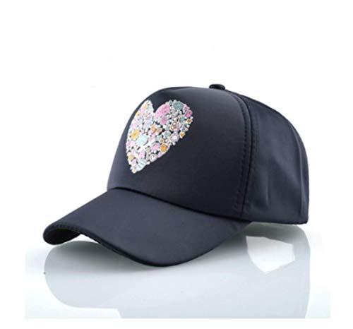JRDL Unisex Baseball Cap Männer Frauen Print Herzförmige Rosa Hüte Snapback Hip Hop Casquette Mode Streetwear Lovers 'Hut Solid Caps 56-60Cm (Zeitgenössische Hip Hop Kostüm)