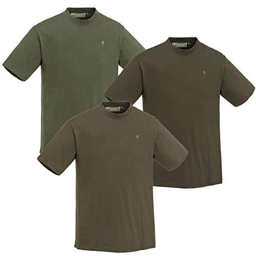 Pinewood T-Shirt 3-Pack Angeln/Jagd/Outdoor Shirt Grün/J.Braun/Khaki 3 Stück (M)