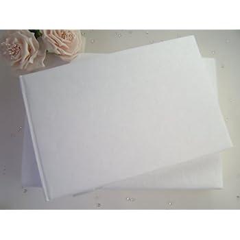 plain blank white guest book