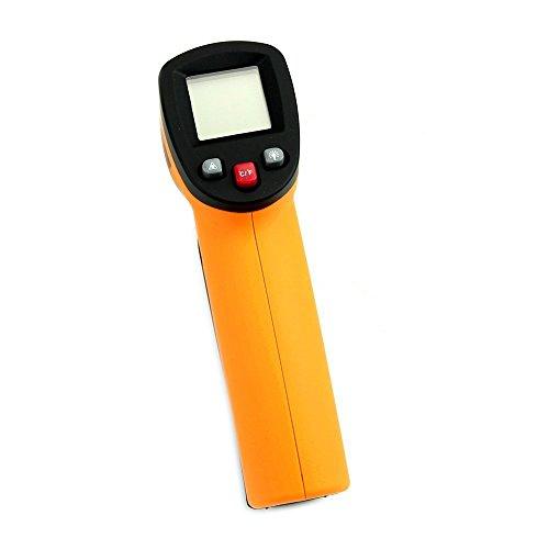 Tailcas® Non-Kontakt IR Infrarot Digitalthermometer LCD Display Handheld Infrarot Laser Pyrometer Berührungslos Thermometer Kontaktlos Temperaturmessgerät Wärmemessgerät Temperaturmesser, -50 bis 380°C (Laser Mit Grill-thermometer)
