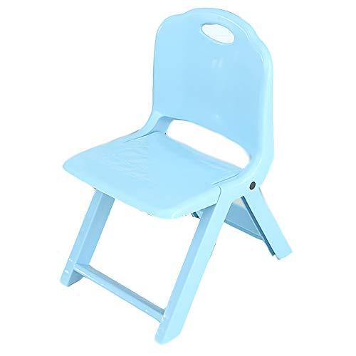 LIPAI Klappstuhl Dicke Faltbare Hocker ZurüCk Kunststoff Tragbare Hause Stuhl Im Freien Kreative Kleine Bank Kinder Stuhl Blau 29,7 * 39,3 * 51 cm