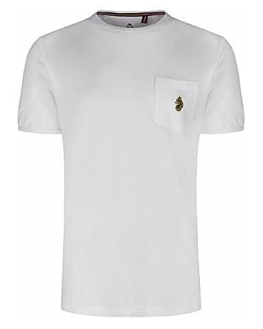 Luke 1977 Mens Trouser Pocket Crew Neck T-Shirt (XL,