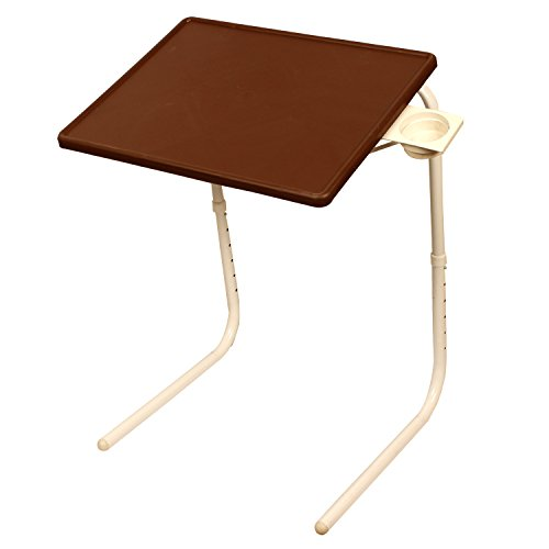 MULTI - TABLE Multi Function Detachable and Foldable Table Mate with Cup Holder in New Chocolate Color