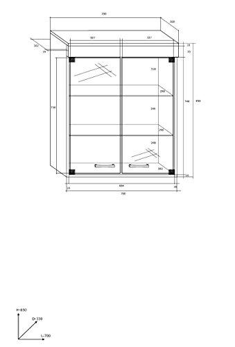 """TV Wohnwand, TV-Tisch Set, Wohnzimmer Set """"MAX"""" TV-Bank, Freistehend Display Einheit, Wandhängend Regal und Vitrine Plus Kaffee Tisch und Kommode Regal in 3 Farben. Eiche Sonoma Dunkel/Weiß Glänzend. - 4"""