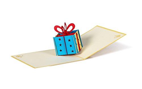 G01 Geldgeschenk Geburtstagskarte I Geld Geschenk als Geschenkbox in Pop-Up-Karte I Geburtstagsgeschenk Glückwunschkarte