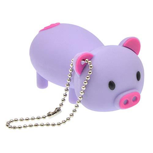 FbscTech USB-Speicherstick in Schweine-Form (USB 2.0) violett 64 GB