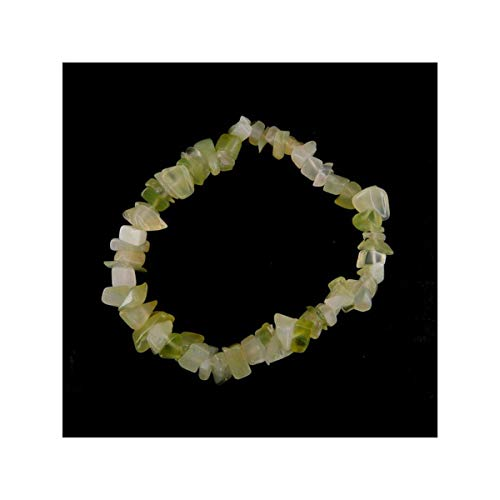 Mineral Import - Elastisches Armband aus Jade-Chips - 3346VC (Jade-chip-armband)