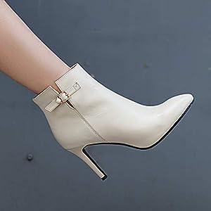 Top Shishang Damen sexy Stretch-Stretch-Leder wies Stilettos Martin Stiefel Chelsea Stiefel und Stiefeletten westlichen Stiefeletten
