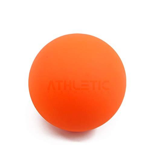 ATHLETIC AESTHETICS Lacrosse-Ball [6cm Durchmesser] - Als Massage-Ball und Faszien-Ball zur Selbstmassage und zur Triggerpunkttherapie (genaue Behandlung von Verspannungen) geeignet (Orange)