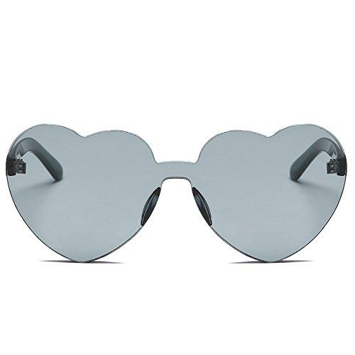Trisee ✔ Sonnenbrille, Unisex Sonnenbrille Mode Sonnenbrille Herzform Gläser Transparent mit verspiegelten für Tanzparty, Halloween Party, Weihnachten