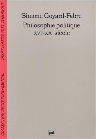 Philosophie politique XVIe-XXe siècles : Modernité et humanisme