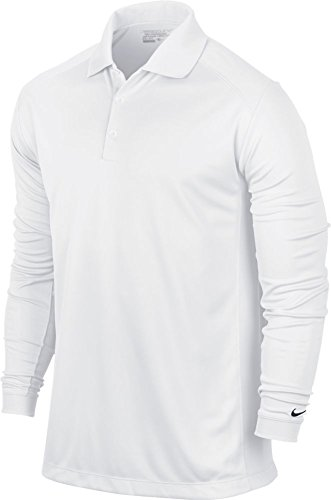 Nike Victory Polo à manches longues Homme White/Black FR : XL (Taille Fabricant : XL)