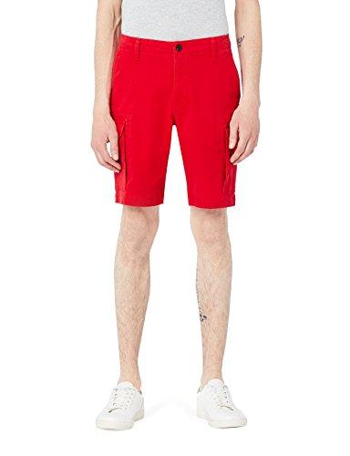 MERAKI Cotton Slim Fit Cargo-Pantaloncini Uomo