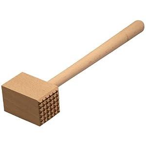 HOFMEISTER® Fleischhammer, 100% EU-Naturprodukt, 28 cm, ohne Plastik, Stabiler Fleischklopfer klopft jedes Schnitzel…