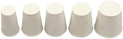 Onpira 10x Gummistopfen Gummi Stopfen Konisch Pfropf Verschluss Korken Silikon Weiß Größe 2
