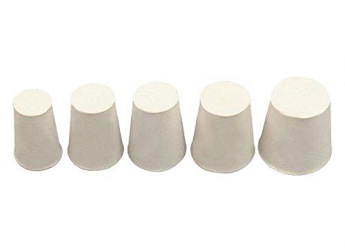Onpira 10x Gummistopfen Gummi Stopfen Konisch Pfropf Verschluss Korken Silikon Weiß Größe 4