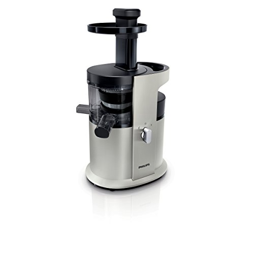 Philips HR1882/31 Avance Collection Estrattore di Succo, 200 W, 1.5 l, Tecnologia Gentle Squeezing, Nero/Argento