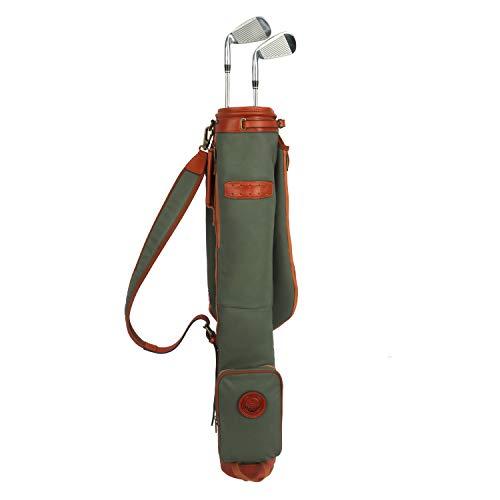 Tourbon wasserdichte Segeltuch-Tasche für Golfschläger, mit weichem gepolstertem Schultergurt - Golf Bag TB904CA-Green (Golf Bag Travel Case)