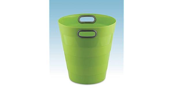 Cestino Gettacarte Chiuso da 12.5 Litri Formato 28.5x30H cm Verde Neon