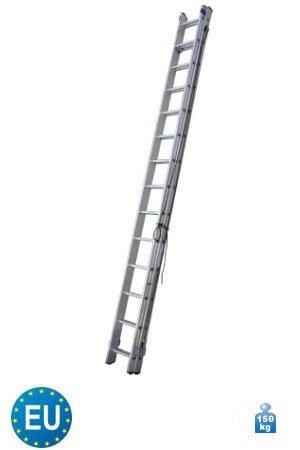Aluminium Schiebeleiter mit Seilzug 2-teilig 2 x 14 Stufen