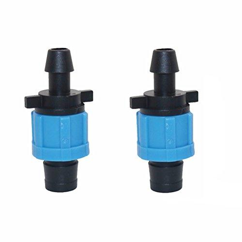 'adhere to Fly Lot de 20 5/8 irrigation goutte tuyauterie Raccord de tuyau d'eau Lock Off Take ne goutte Ruban adhésif 10 mm