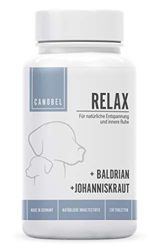 Canobel® Relax - Natürliche Entspannung für Hunde- zur Beruhigung, Gegen Angst, Anti Stress - Mehr Gelassenheit - 130 Tabletten - Made in Germany