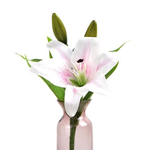 ilie, PVE, realistische Blumen, DIY Blumenstrauß für Hochzeit, Weihnachten, Party, Zuhause, Garten, Hof, Dekoration von Meipai 10 ()