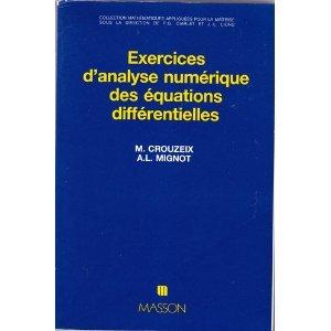 Exercices d'analyse numérique des équations différentielles