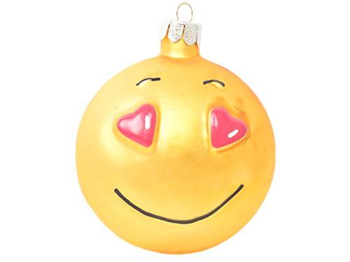 Inge-glas Christbaumschmuck Jokies Weihnachtskugeln Smileys (Love)
