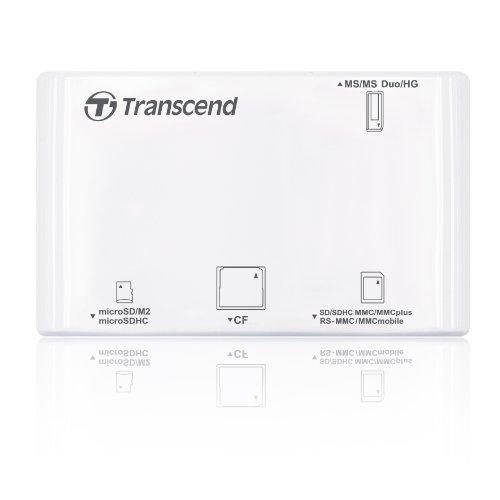Transcend P8 All-in-1 Multi Speicherkartenlesegerät weiß
