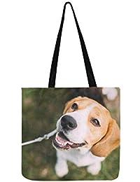 Bolso bandolera de lona con diseño de cachorro de inglés, ideal para hombres ...