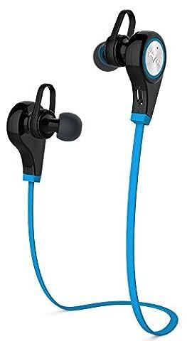 Sans fil Bluetooth 4.1sistent léger sport Course à Pied écouteurs intra-auriculaires avec micro mains libres pour iphone et smartphone Android