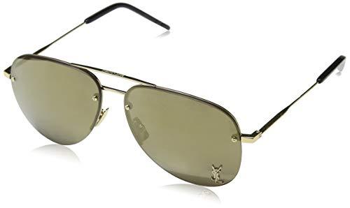 Saint Laurent Unisex-Erwachsene CLASSIC 11 M 003 Sonnenbrille, (Gold/Green), 59