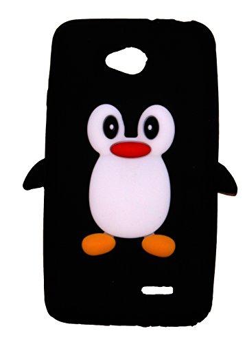 SKS Distribution® negro silicona pingüino FUNDA / CARCASA / COVER para LG L70