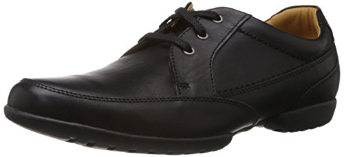 Clarks Recline Out Lace-Ups Mens Leather Shoes - Black (9.5 UK)