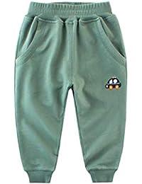 PanpanBox Filles Garçon Jogging Pantalons de Sport Bébé Coton Minceur Pants  Survetement Entrainement Enfants Relaxed Tapered cc5863a672b