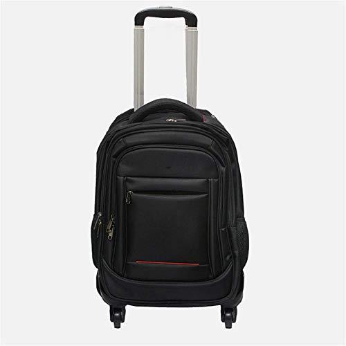 DLYGH Set di valigie Rotolamento Zaino, Zaino 18 Pollici Impermeabile Collegio Wheeled Laptop, Carryon Trolley Valigia Compact Business Sacchetto di Scuola Studente Computer Bag
