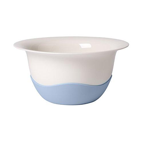 Villeroy & Boch Clever Cooking Plat creux/Passoire, Porcelaine Premium/Silicone, Blanc/Bleu