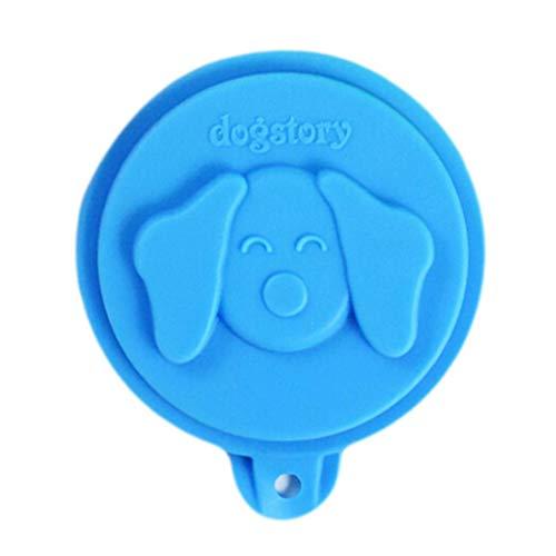 chungeng Elegante Dosendeckel für Katzen- und Hundefutterdosen, 2 Stück, Universaldeckel, BPA-frei, Silikondeckel, passend für alle Standard-Deckel für Hunde und Katzen - blau -