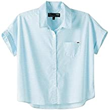 Camisa de mujer Vans Surfin Button Down Camiseta 127cca27a54