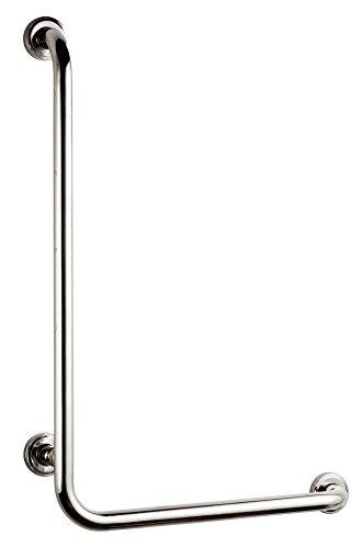 Bisk 04785  PRO Sicherheitshaltegriff 'L' 550 x 550 mm, 25 mm, 60.5 x 60.5 x 8 cm, Edelstahl Verchromt