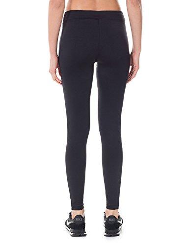 SYROKAN Femme Legging Longs de Sport Collant Capri Uni Lime Fitness Pantalon Noir