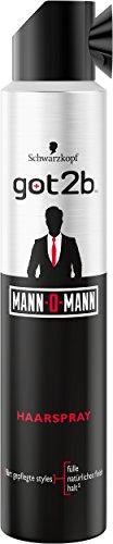 Got2b Mann-O-Mann Haarspray, 2er Pack (2 x 200 ml)